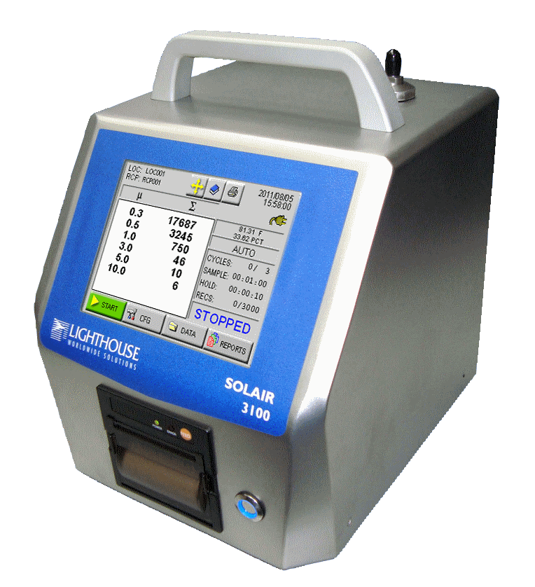 Portable Particle Counter for Certification of Clean Rooms