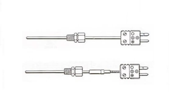 METAL SHEATHED THERMOCOUPLES