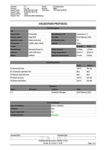 Validation Report with global result