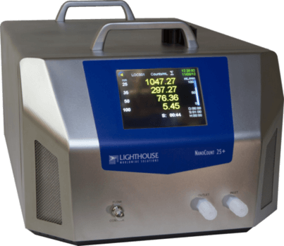 LIQUID PARTICLE COUNTER for particle measurement from 25 or 30 nanometer