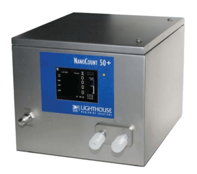 LIQUID PARTICLE COUNTER for particle measurement from 50 nanometer