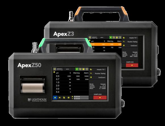 Partikelzähler Apex Z Reinraum Zertifizierung Monitoring Klassifizierung gemäss ISO 16466-1